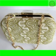 CLUTCH BOLSO DE FIESTA COLOR CHAMPAN
