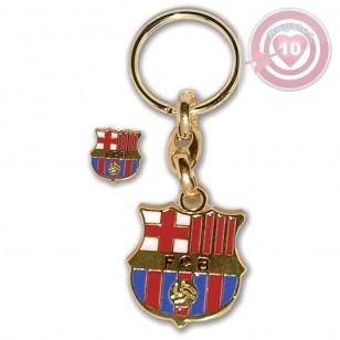 LLAVERO CON PIN FC BARCELONA