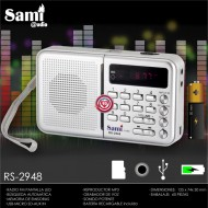 Radio Fm USB-Rep. MP3- Grabación voz