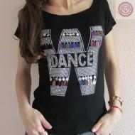 "CAMISETA DE MANGA CORTA PARA CHICA "" DANCE """