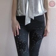 Pantalon Vaquero color negro