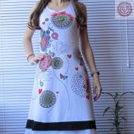 Vestido estilo DESIGUAL color Blanco