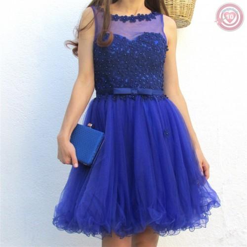 Vestido Elegant Class Color Azul Klein