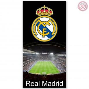 TOALLA  PLAYA  REAL MADRID 100% ALGODON