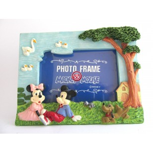 Portafotos Mickey , Minnie y Pluto en el Campo