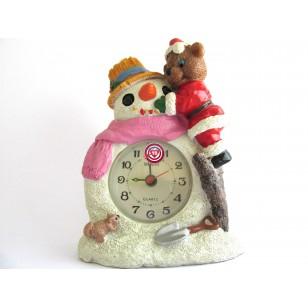 Reloj Muñeco de Nieve