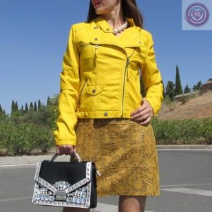 Chaqueta Biker  color amarillo Regalos10