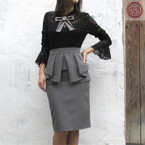 40136cdf04 Falda de tubo color gris - Regalos10.com