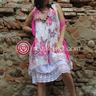 Vestido Boho Dandy 3 piezas lencero blusón pashmina