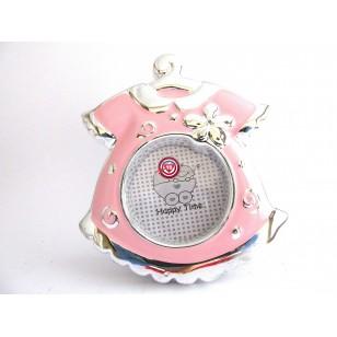 Portafotos Vestido Bebé - Rosa -  Regalos para Bautizos