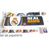 Set de Papelería  Real Madrid con Plumier.