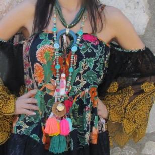 Collar boho borlas multicolor regalos10