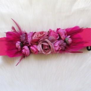Cinturón flores FUCSIA Regalos10