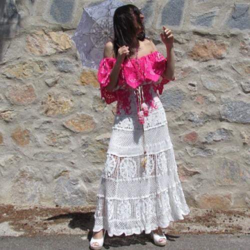 eed6f8b310 Falda Ibicenca Larga Crochet Regalos10
