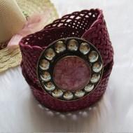 Cinturón piel trenzado color rosa Regalos10