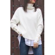 Jersey blanco mangas botones Regalos10