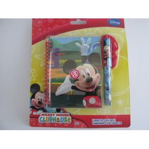 Mickey Libreta con Boli