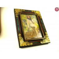 Portafotos Flor  - Damasquino