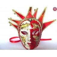Máscara  Blanca y Roja 7 Picos