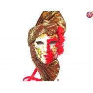 Máscara  Blanca y Roja con Tuareg
