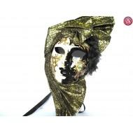 Máscara  Blanca y Negra con Tuareg