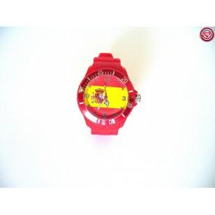 Reloj España con Bandera -Rojo-