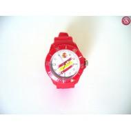 Reloj España. Fondo Blanco- Rojo -