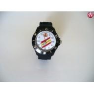 Reloj España. Fondo Blanco- Negro -