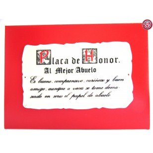 Placa de Honor - Al mejor Abuelo-