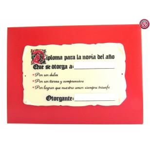 Diploma para la Novia del Año