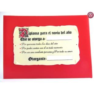 Diploma para el Novio del Año.