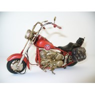 Moto Chopper Media Roja